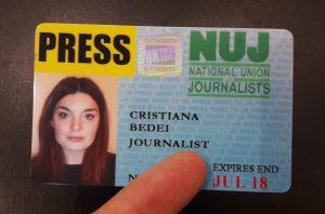 Cristiana Bedei Press Card